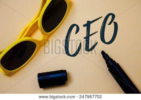 Writing Note Showing  Ceo. Business Photo Showcasing Chief Executive Officer Head Boss Chairperson C