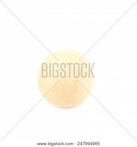 Block of marzipan confection isolated over the white background poster