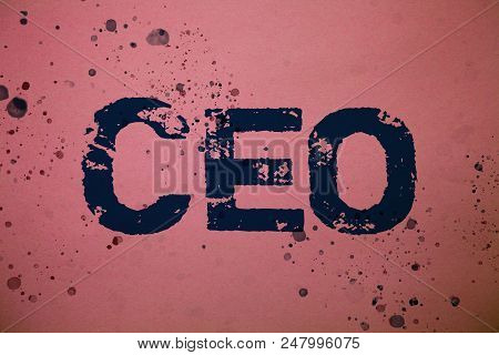 Handwriting Text Ceo. Concept Meaning Chief Executive Officer Head Boss Chairperson Chairman Control