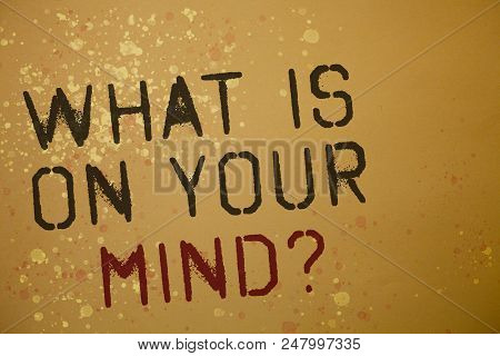 Word Writing Text What Is On Your Mind Question. Business Concept For Open Minded Thinks Of Intellec