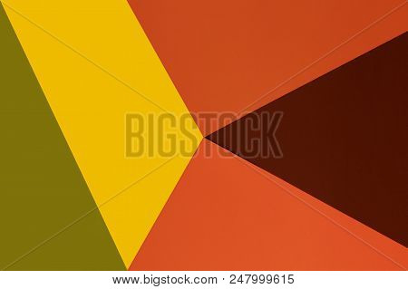 Yellow, Brown, Green And Orange Background. Colorful Texture. Minimal Concept. Creative Concept. Pop