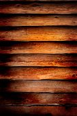 Old log cabin wood wall background or backdrop poster