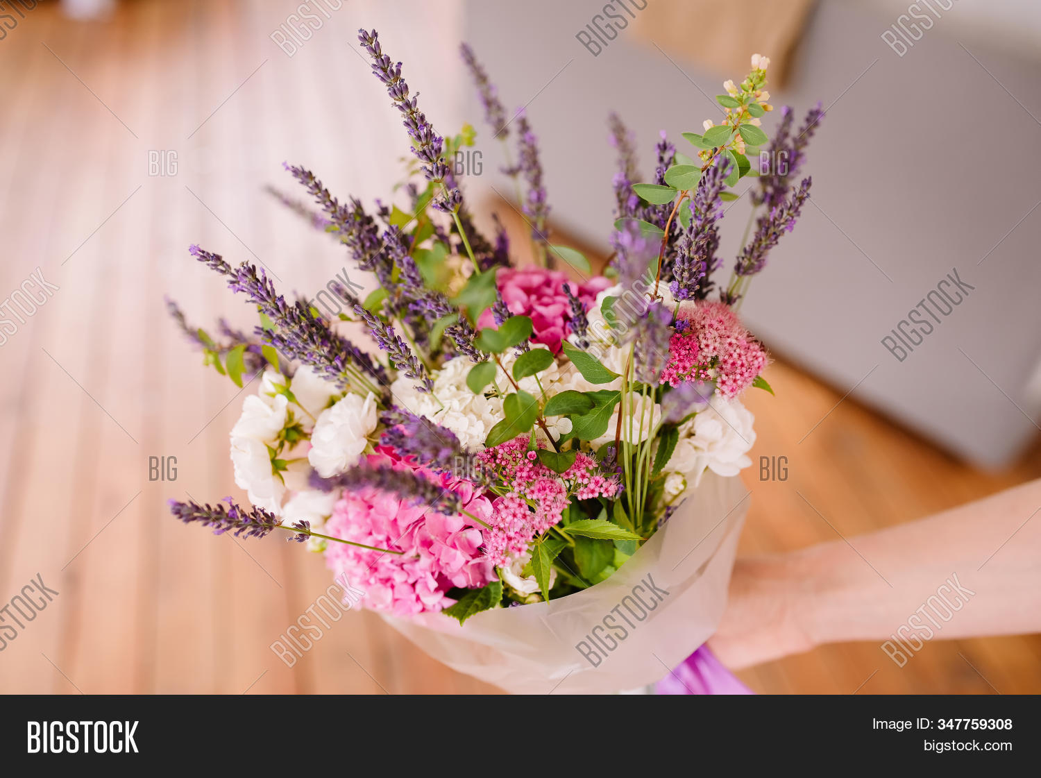 Bouquet Lavender Dry Image Photo Free Trial Bigstock