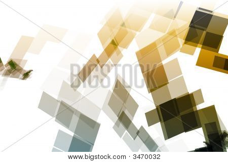 Gold Blue Mechanical Tech Blocks Abstract Wallpaper Background poster