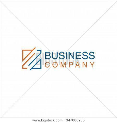 Square  Letter E Logo Line . Modern Letter E M Em Square Logo Line Design Vector