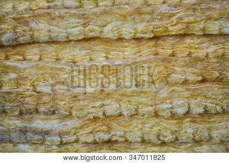 Glass Wool Texture Background. Mineral Wool (or Mineral Fiber, Mineral Cotton, Mineral Fibre, Glass