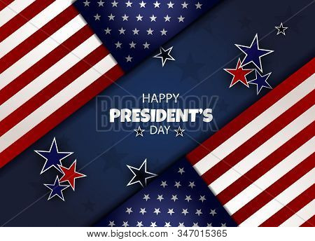 President's Day background, President's Day banners, american flyer, Presidents Day design, Presidents Day flag on background, vector illustration.