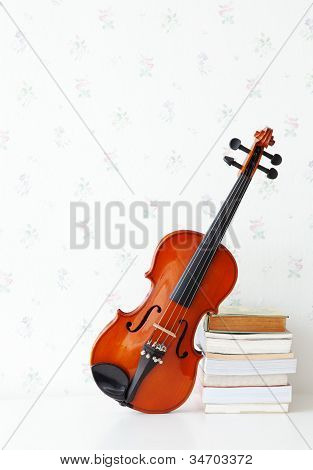 classic violin on background