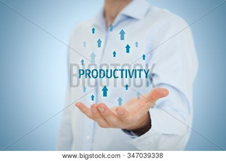Coach Motivate To Productivity Improvement. Manager (businessman, Coach, Leadership) Plan To Increas