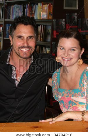 LOS ANGELES - JUL 8:  Don Diamont, Heather Tom at the William J. Bell Biography Booksigning at Barnes and Noble on July 8, 2012 in Costa Mesa, CA