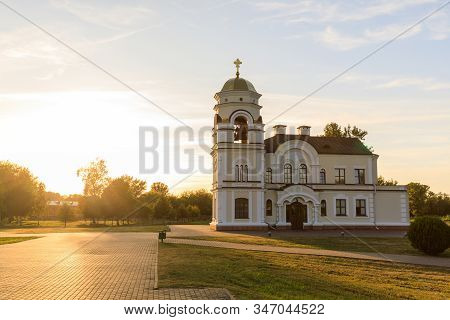 Saint Nicholas Garrison Church In Brest Fortress Against The Sunset In Summer, Belarus.
