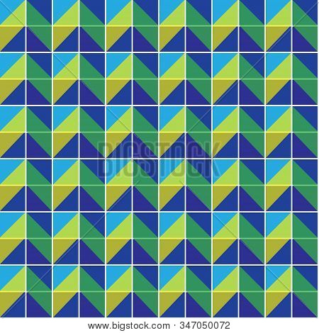 Seamless Geometric Texture Of Triangles And Trapeze. Seamless Triangle Pattern