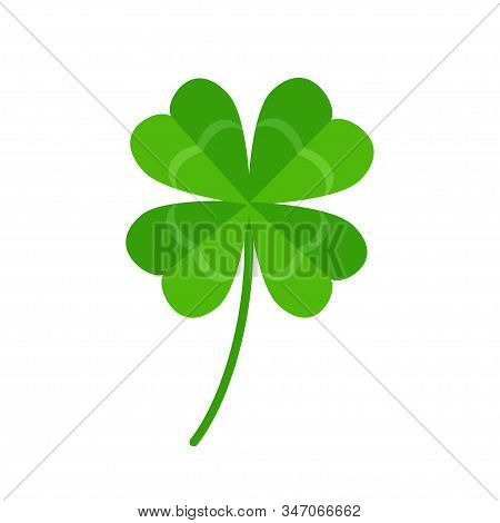 Four Leaf Clover Icon Isolated On White Background