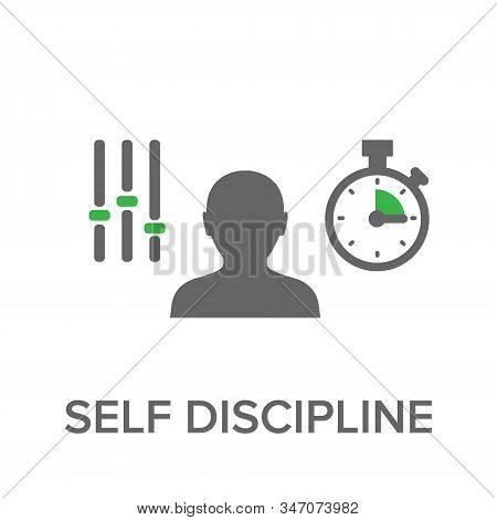 Discipline Icon. Simple Element Illustration. Discipline Concept Symbol Design. Can Be Used For Web