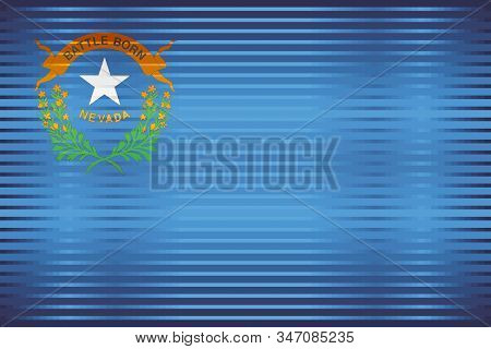 Shiny Grunge Flag Of The Nevada - Illustration,  Three Dimensional Flag Of Nevada