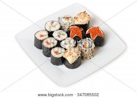 Sushi Mix - Yasai Maki, Maki Sushi, Caviar Sushi And Baked Sushi