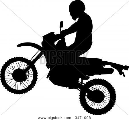 Jumping Dirtbike Silhouette