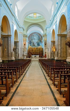 Buenos Aires, Argentina - January 23, 2018:  The Nave Of The St.domenico Convent