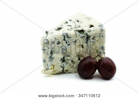 Roquefort Cheese Isolated On White Background Cut Out