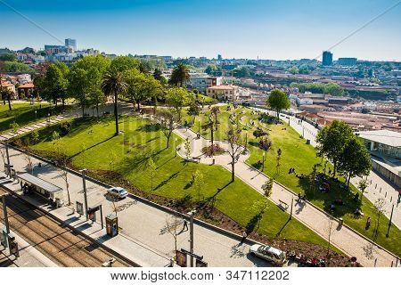 Porto, Portugal - May, 2018: View Of The Morro Garden At  Vila Nova De Gaia