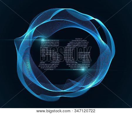 5g Sign. Internet And Wireless Modem With Simbol Of Abstract Signal In Circle Wave, Vector Digital T