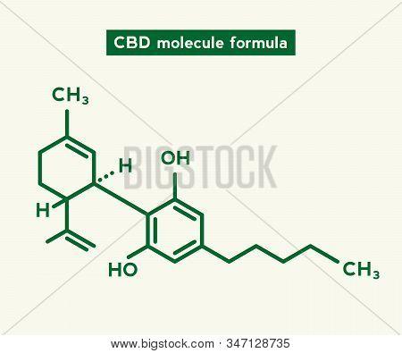 Cannabidiol Cbd Molecule Illustration. Science Chemical Cbd