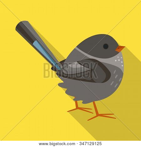 Vector Design Of Bird And Sparrow Sign. Set Of Bird And Brown Stock Symbol For Web.