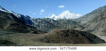 V-shaped Spur Hill Ridges Of Pirin Mountains Valley. A Zig Zagging Fluvial Valley That Interlock Or