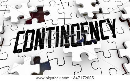 Contingency Puzzle Stopgap Alternate Emergency Backup Plan 3d Illustration