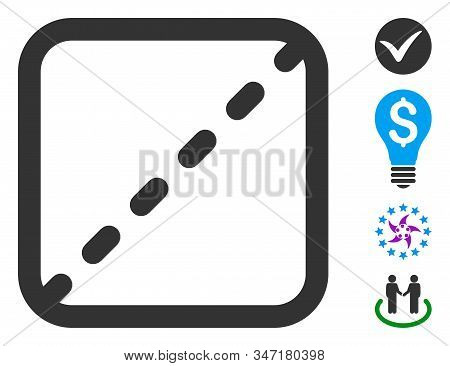 Shares Icon. Illustration Contains Vector Flat Shares Pictograph Isolated On A White Background, And