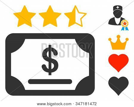 Financial Share Rating Icon. Illustration Contains Vector Flat Financial Share Rating Pictograph Iso