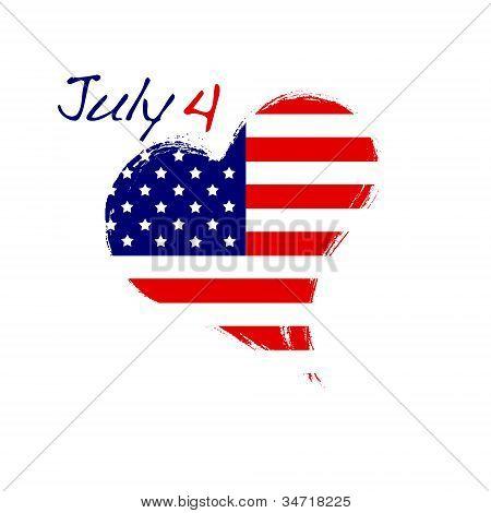 July 4 heart.