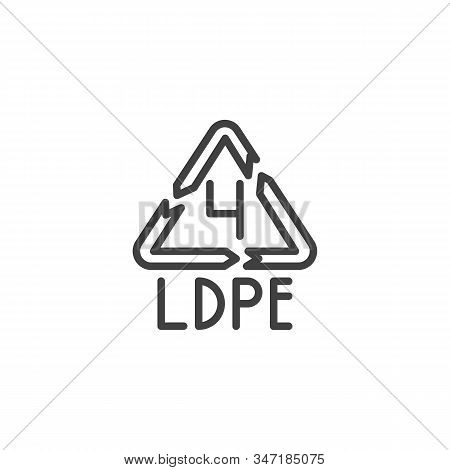 Low-density Polyethylene Line Icon. Linear Style Sign For Mobile Concept And Web Design. Ldpe 4, Ind