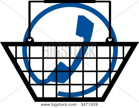 Shopping Basket With Phone Connection.