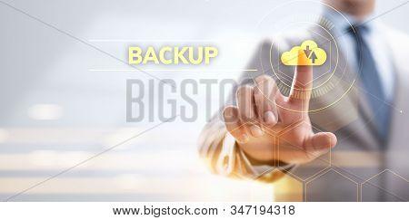 Backup Software Application Database Internet Technology Concept.