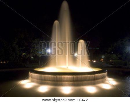 Glowing Night Fountain