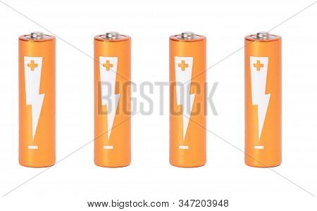 Batteries Of The Type Aa Isolated On White