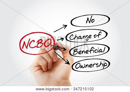Ncbo - No Change Of Beneficial Ownership Acronym, Business Concept Background