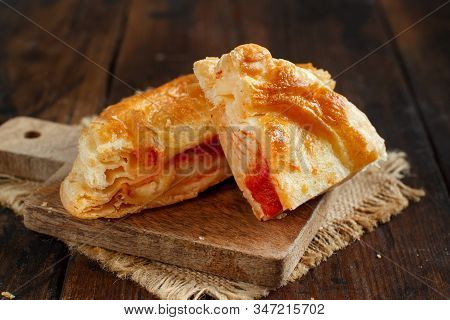 Rustico - Traditional Pastry From Lecce, Italy, Close Up