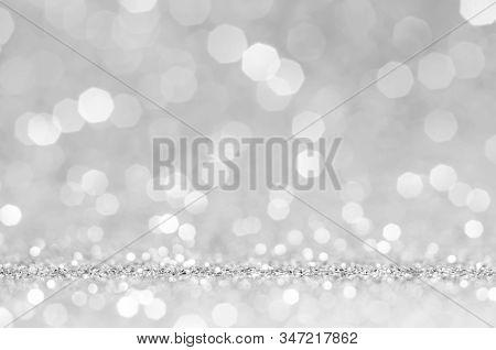 White Or Light Grey Bokeh,circle Abstract Light Background,light Grey Shining Lights, Sparkling Glit