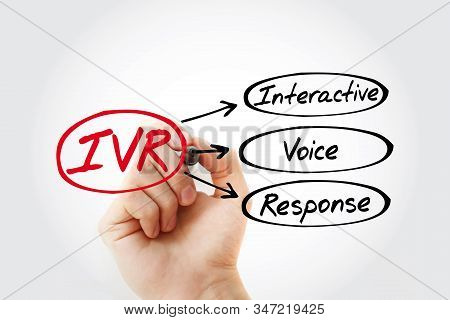 Ivr - Interactive Voice Response Acronym With Marker, Concept Background
