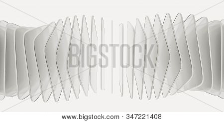 Abstract White Transparent Glas Squares Forming A Ring Structure Illustration 3d Render Illustration