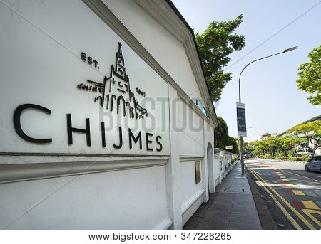 Singapore.  January 2020.  Chijmes Is A Historic Building Complex In Singapore, Which Began Life As