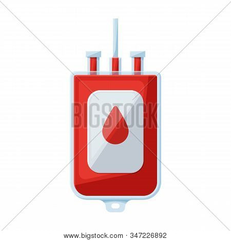 Transfusion Of Blood Vector Icon.cartoon Vector Icon Isolated On White Background Transfusion Of Blo