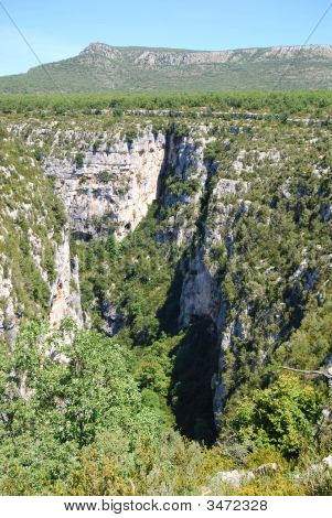 Canyon At The Gorge Du Verdon