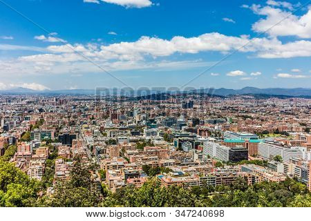 Bogota Skyline cityscape capital city of Colombia South America