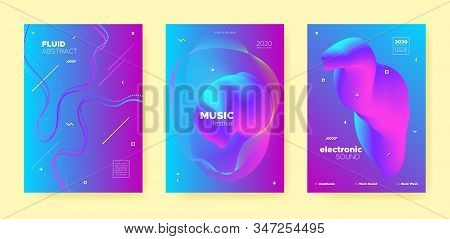 Blue House Music Poster. Abstract Gradient Blend. Disco Club Festival. Dj Sound. Purple Trance Music Poster. Pink Wave Gradient Blend. Night 3d Banner. Dj Concert. Dance Music Poster. poster