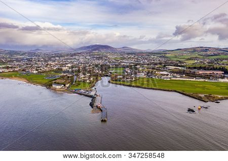Aerial View Of The Town Buncrana In County Donegal - Republic Of Ireland