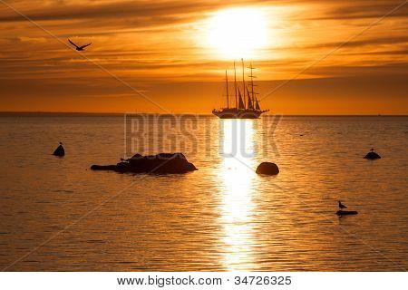 Sailing And Sunset