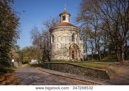Rotunda Of St. Martin In Prague At Vysehrad.
